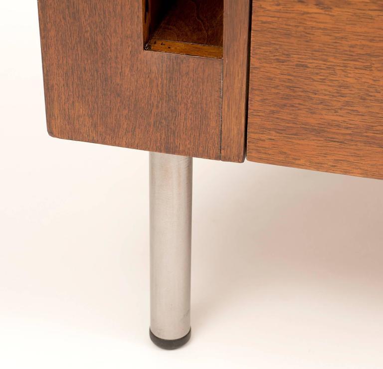 Art Deco Demilune Desk by Gilbert Rohde in Walnut, 1942 For Sale 3