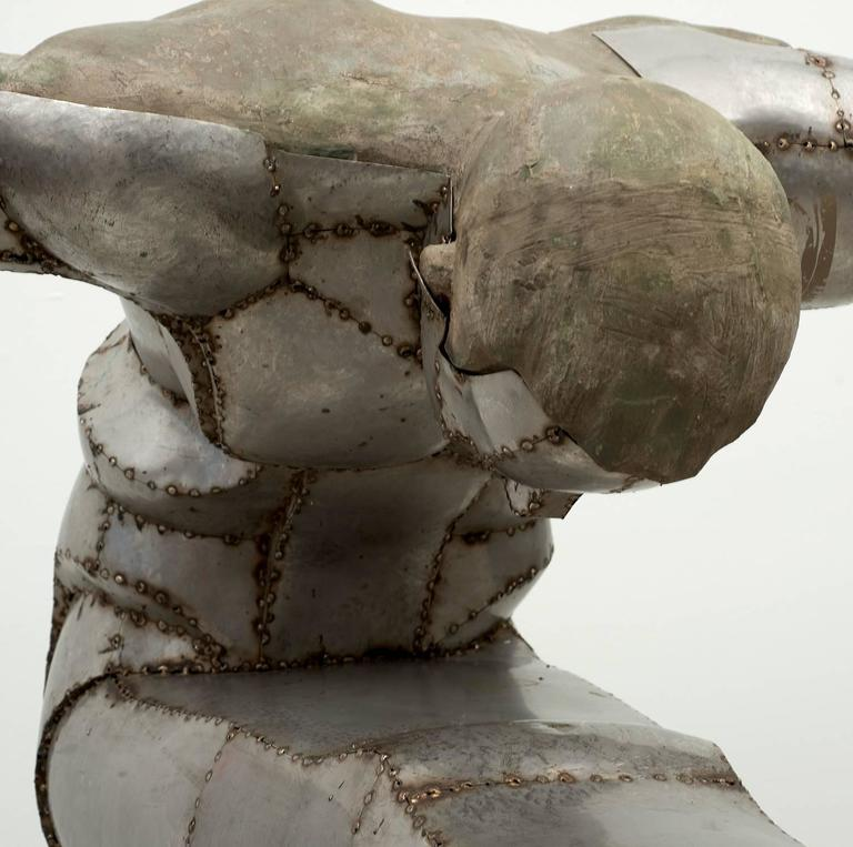 "Monumental Welded Sheet Metal Sculpture ""The Diver ..."