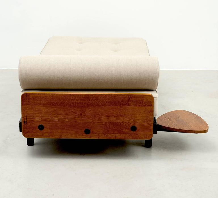 Rare S.C.A.L Daybed by Jean Prouve with Swivel Shelf, Charlotte Perriand, 1950s 6