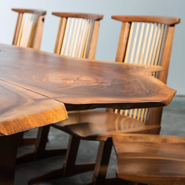American Exceptional Large Conoid Dining Table by George Nakashima, 1984