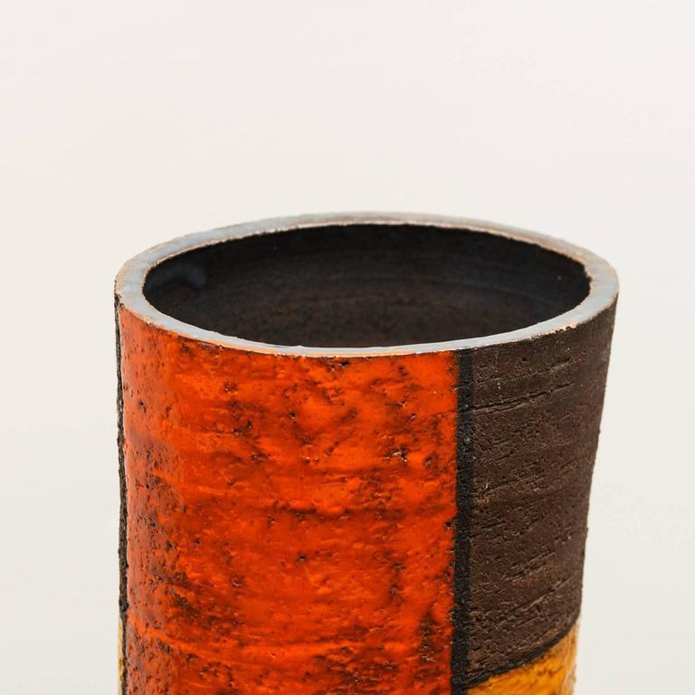 Mondrian ceramic vase by aldo londi for bitossi italy for Mondrian vase