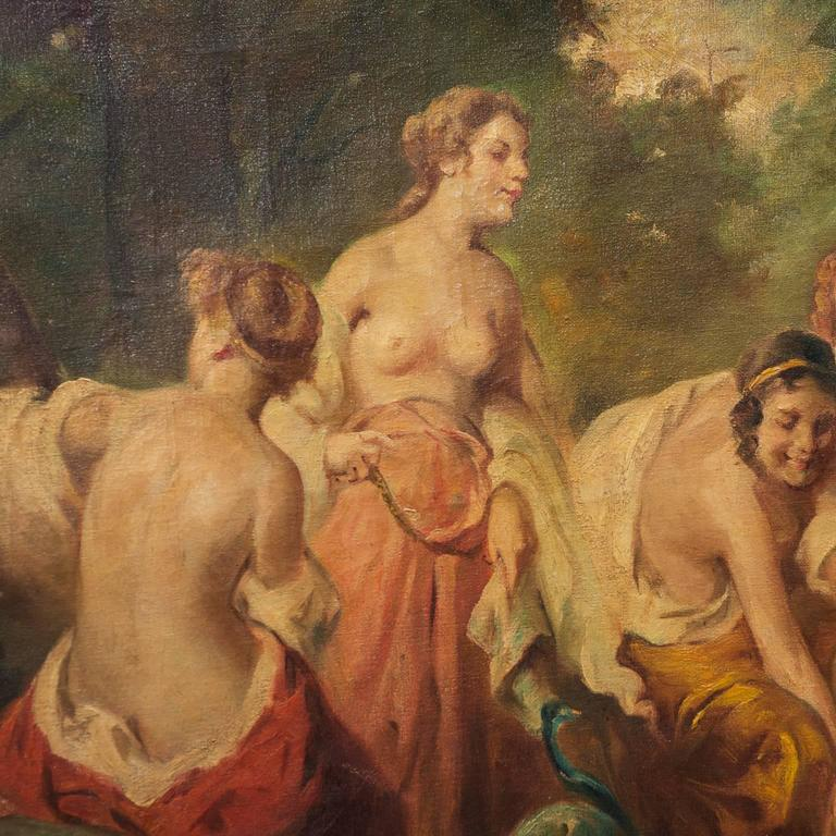 Baroque 17th Century, French Nymphs Painting For Sale