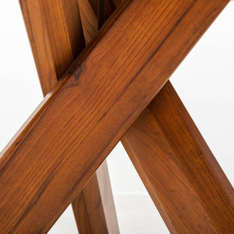 Mid-Century Modern Pierre Chapo Model T21 Dining Table in Solid Elm, France, 1960s For Sale