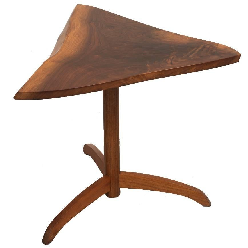 Black Walnut Side Table by George Nakashima, 1977