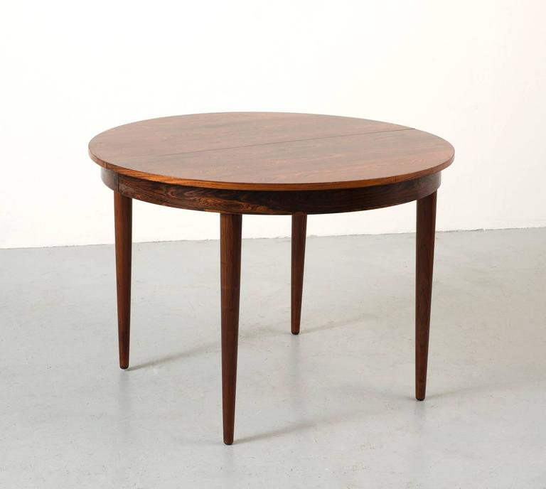 round dining table with leaf extension hans rosewood dining table with extension leaf 9255