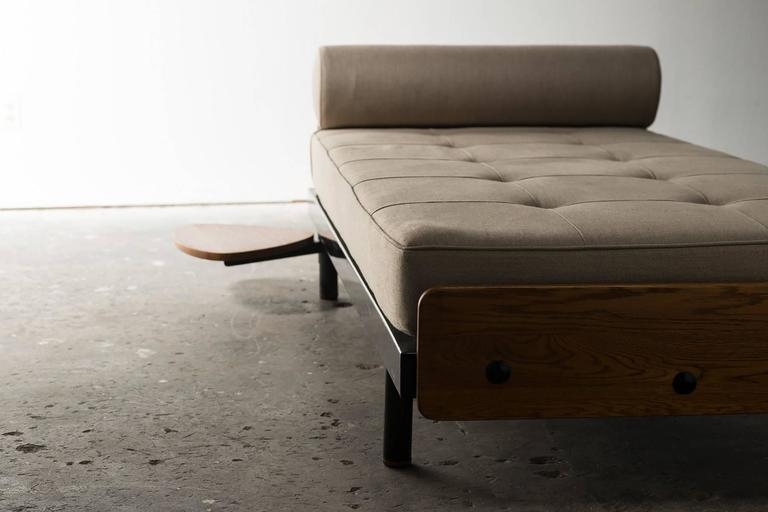Rare S.C.A.L Daybed by Jean Prouve with Swivel Shelf, Charlotte Perriand, 1950s 3
