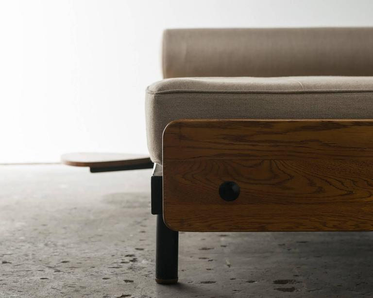 Rare S.C.A.L Daybed by Jean Prouve with Swivel Shelf, Charlotte Perriand, 1950s 4