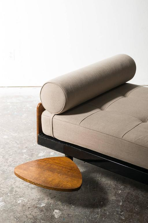 Rare S.C.A.L Daybed by Jean Prouve with Swivel Shelf, Charlotte Perriand, 1950s 5
