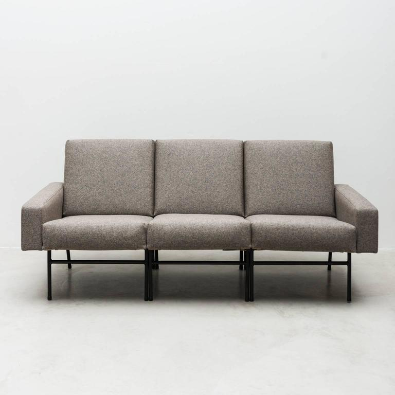 Mid-20th Century Pierre Guariche Three-Seat Sofa for Airborne, France, 1954 For Sale
