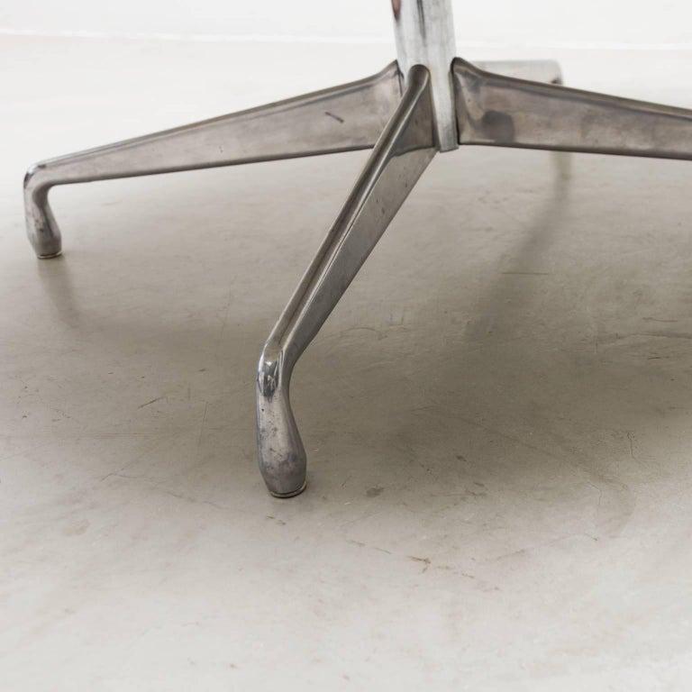 Eames Marble Coffee Table: Vintage Eames Aluminium Base Marble-Top Coffee Table