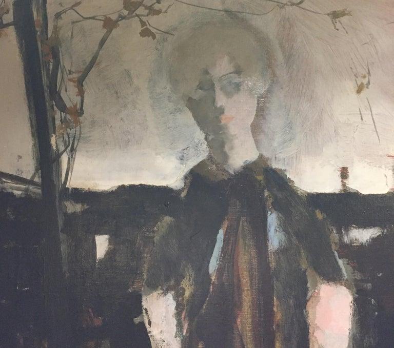 Large Italian 20th Century Female Portrait Painting by Renato Borsato, 1960 For Sale 6