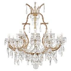 20th Century Italian Crystal Chandelier Maria Therese Twenty One-Light Two-Tier