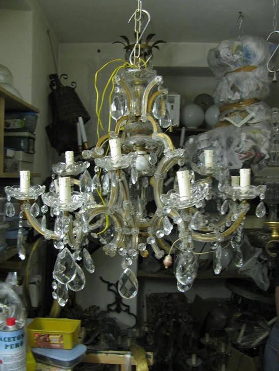 20th century italian maria theresa thirteen light two tier crystal 20th century italian maria theresa thirteen light two tier crystal chandelier for sale at 1stdibs arubaitofo Gallery