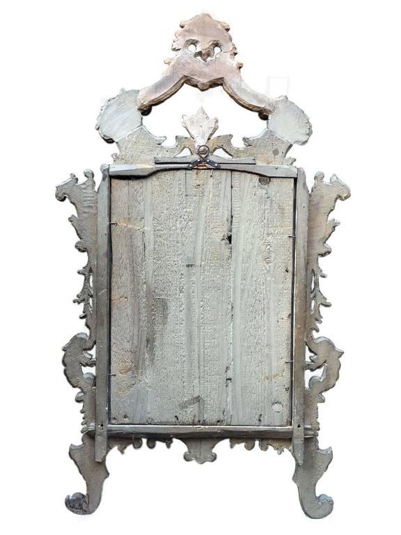 Italian 18th Century Louis XV Mirror Carved Gilt Wood Tuscan Mirror from Lucca For Sale 8