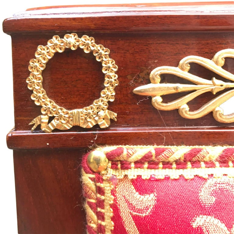Four Italian Empire Style Chairs Mahogany with Ormolu Mounts  1970 Circa In Good Condition For Sale In Milan, IT