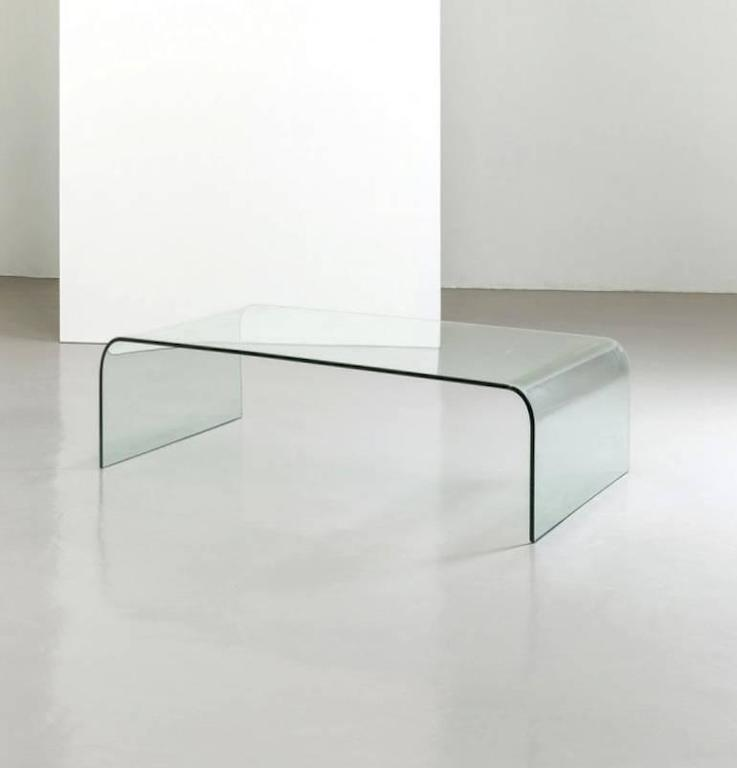 Minimal Crystal Coffee Table By Fiam Italy For Sale At