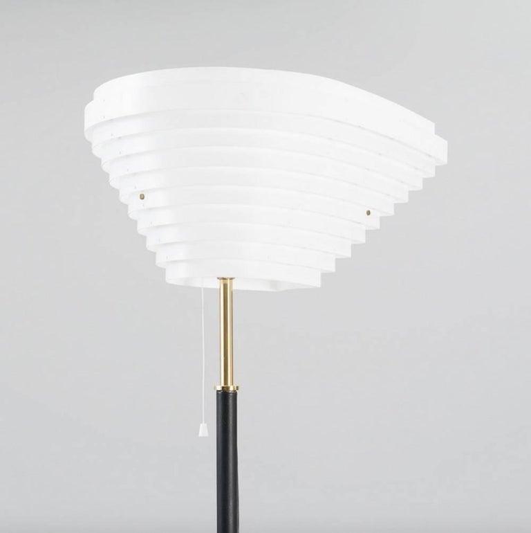 Scandinavian Modern Alvar Aalto Model A805 Angel Wing Floor Lamp For Sale