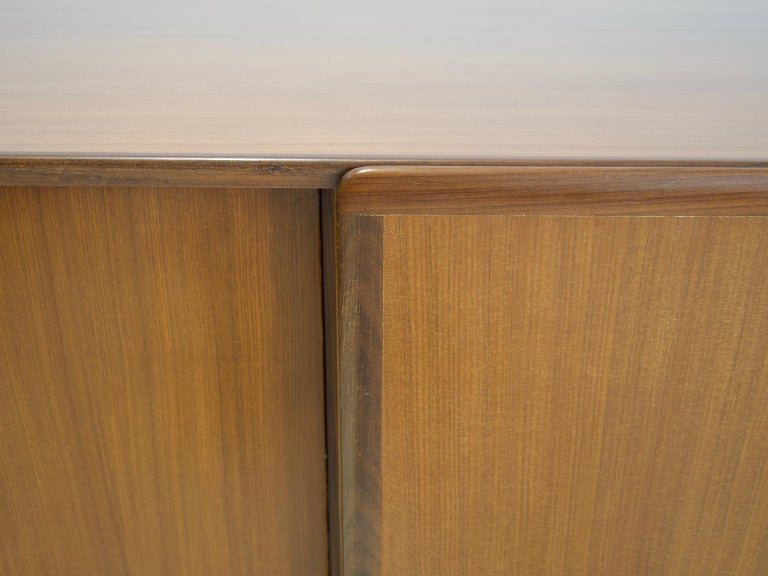Pair of Teak Credenzas with Sliding Doors by Amma, Italy For Sale 2