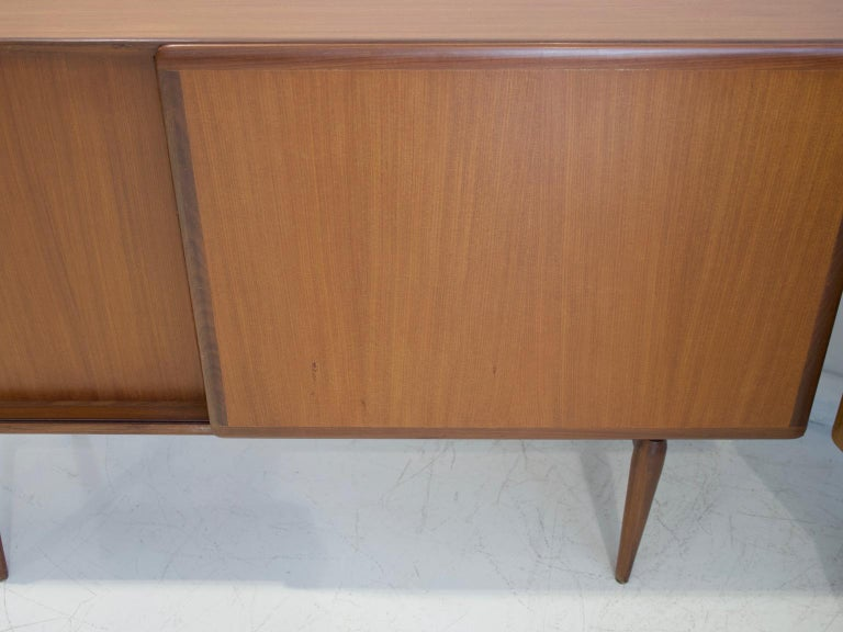 Pair of Teak Credenzas with Sliding Doors by Amma, Italy For Sale 3