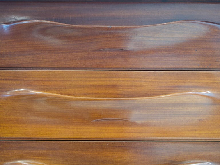 Pair of Teak Credenzas with Sliding Doors by Amma, Italy For Sale 7