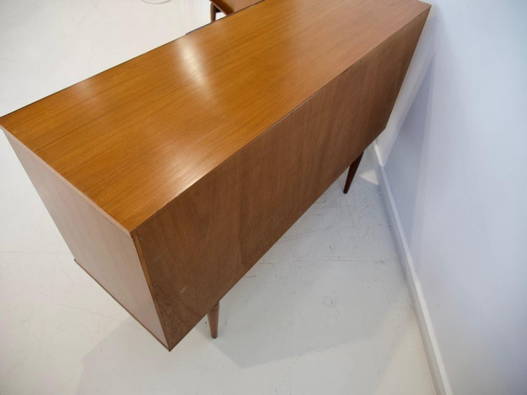 Pair of Teak Credenzas with Sliding Doors by Amma, Italy For Sale 8