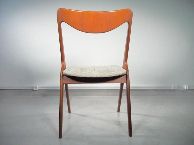 Set of Four Mid-20th Century Albin Johansson & Sons Teak Chairs For Sale 1