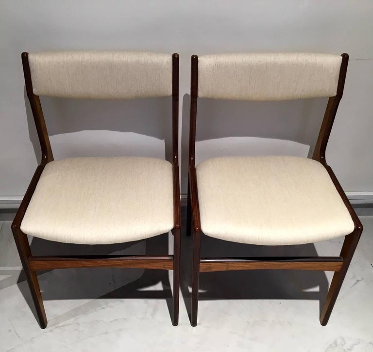 Set of Six Mid-Century Danish Rosewood Veneered Dining Chairs 3