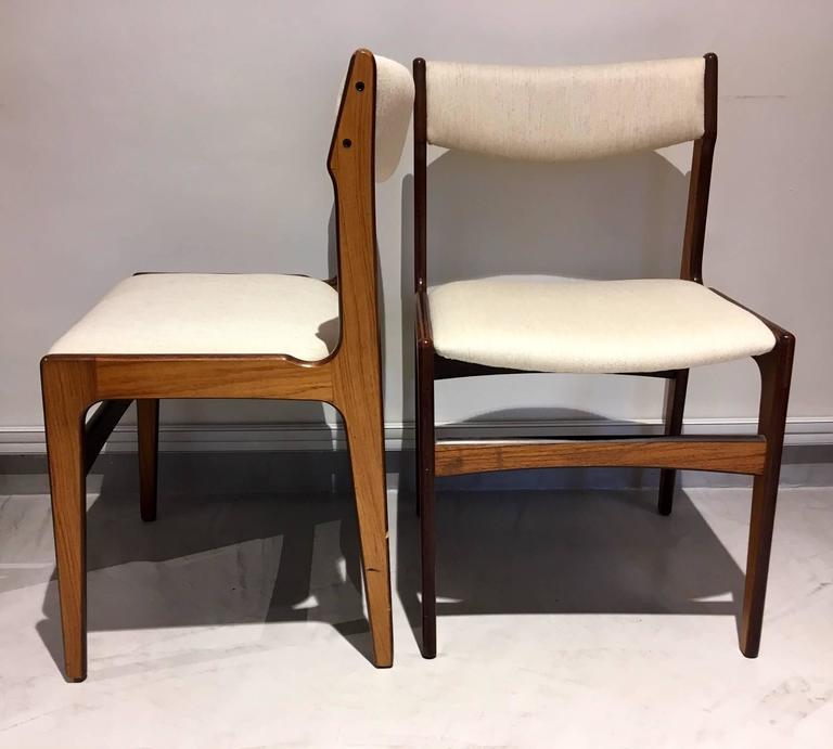 Set of Six Mid-Century Danish Rosewood Veneered Dining Chairs 5