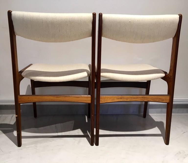 Set of Six Mid-Century Danish Rosewood Veneered Dining Chairs 7