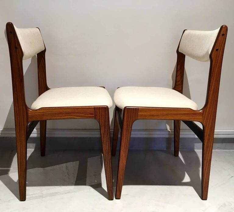 Set of Six Mid-Century Danish Rosewood Veneered Dining Chairs 4