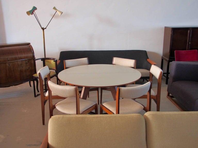 Set of Six Mid-Century Danish Rosewood Veneered Dining Chairs 10