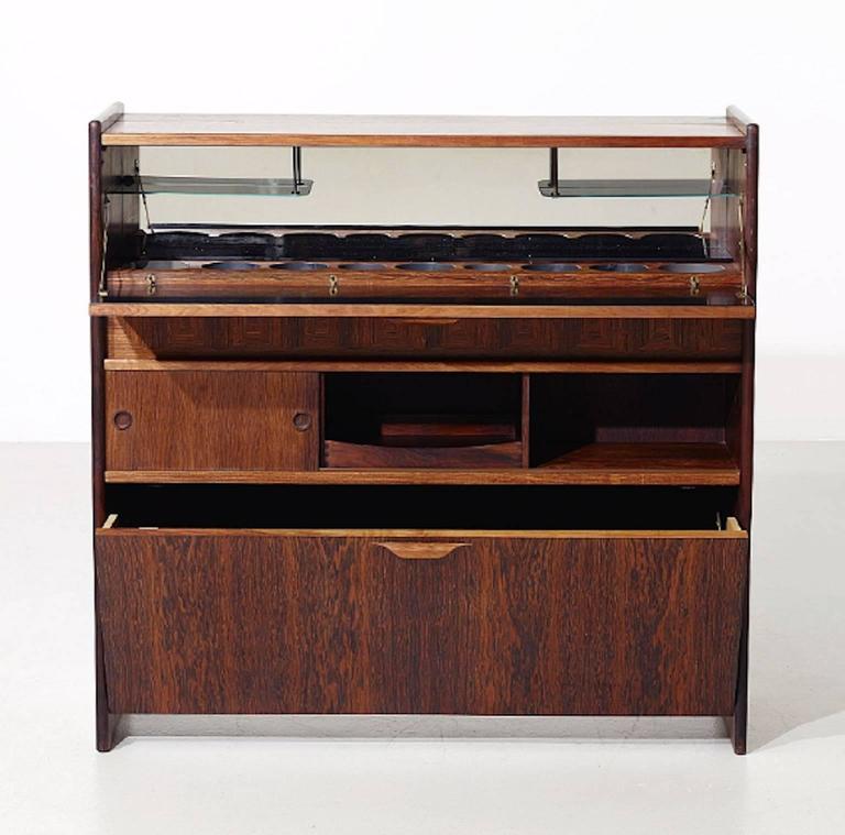 Johannes Andersen Rosewood Bar Cabinet At 1stdibs