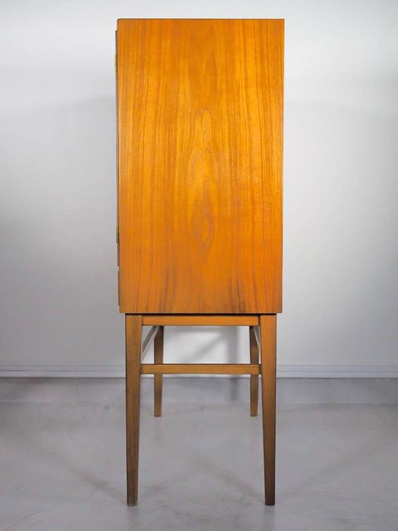 Mid-Century Modern Mid-20th Century Bar Cabinet with Interior Mirrors and Light For Sale