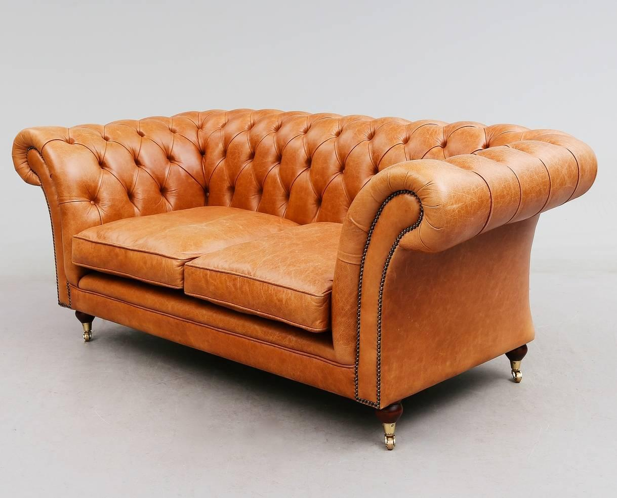 light brown leather chesterfield sofa for sale at 1stdibs. Black Bedroom Furniture Sets. Home Design Ideas
