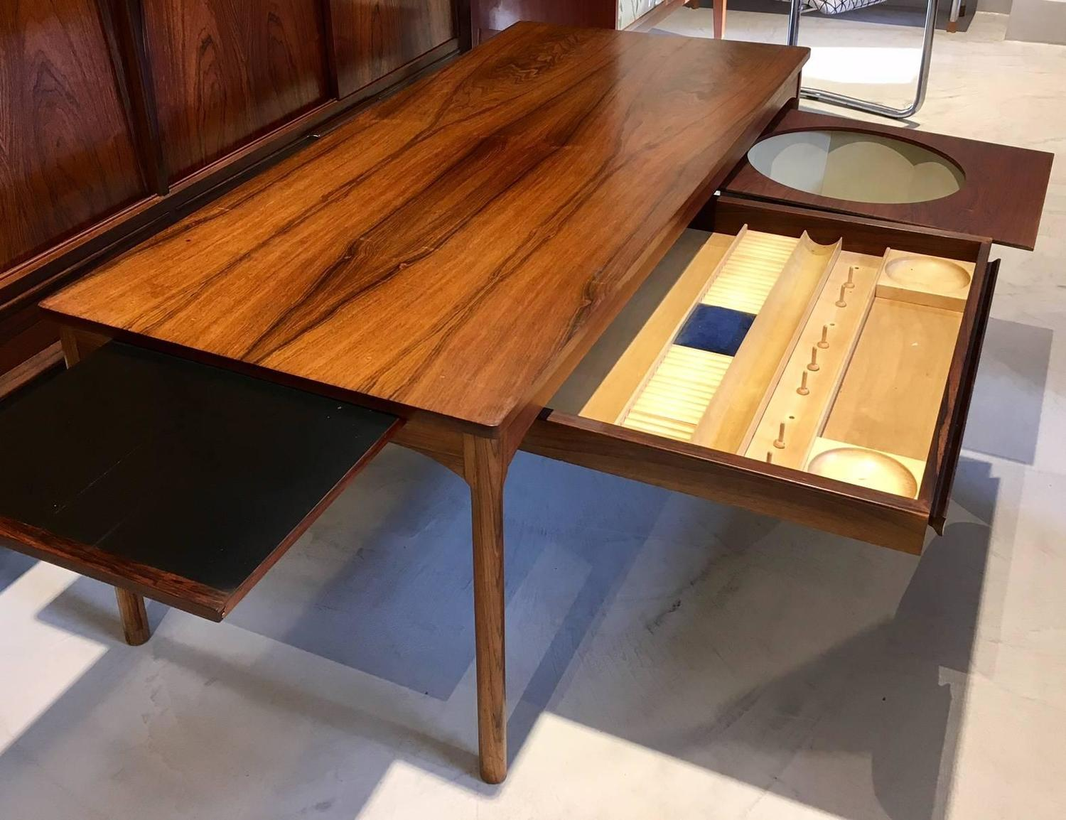 Danish Mid Century Modern Coffee Table With Drawers For Handicraft Materials For Sale At 1stdibs