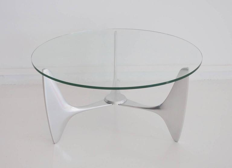 Coffee Table From Space Design, Circa 1960 1970s. Three Legged Frame Made