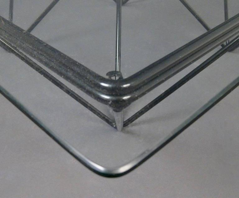 "Square Glass Coffee Table in the Style of Paolo Piva's ""Alanda"" Table 6"