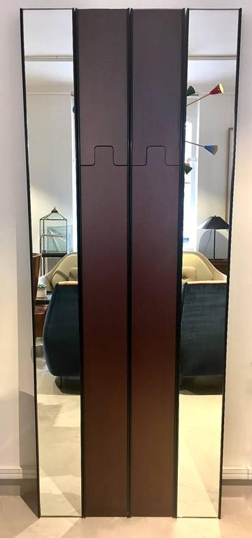 Italian Modular Gronda Mirror and Coat Rack by Luciano Bertoncini for Elco For Sale