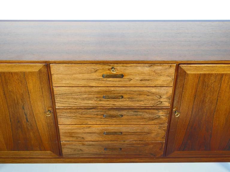 Danish Hardwood Sideboard by Kai Winding, Circa 1960s For Sale