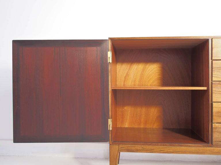 Scandinavian Modern Hardwood Sideboard by Kai Winding, Circa 1960s For Sale