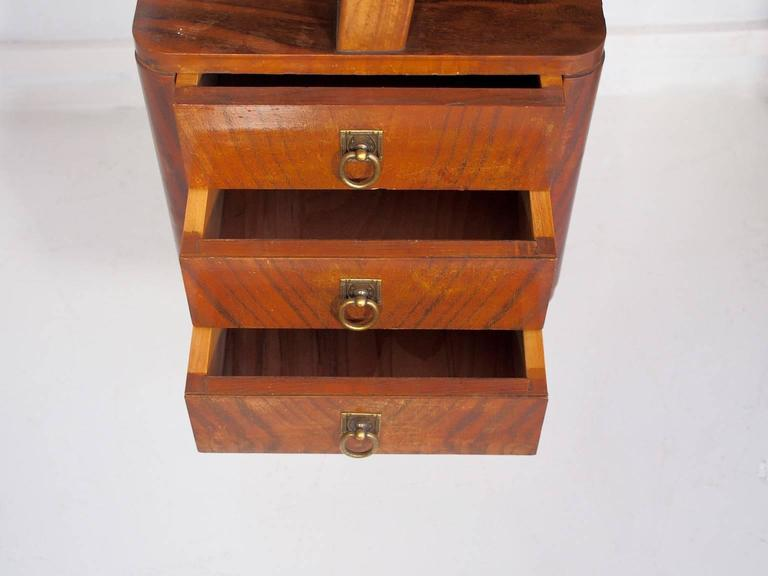 small italian mahogany writing desk with drawers for sale at 1stdibs. Black Bedroom Furniture Sets. Home Design Ideas