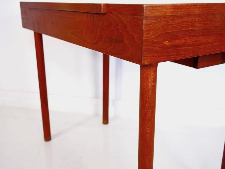 Mid-Century Teak Dressing Table with Mirror For Sale 1