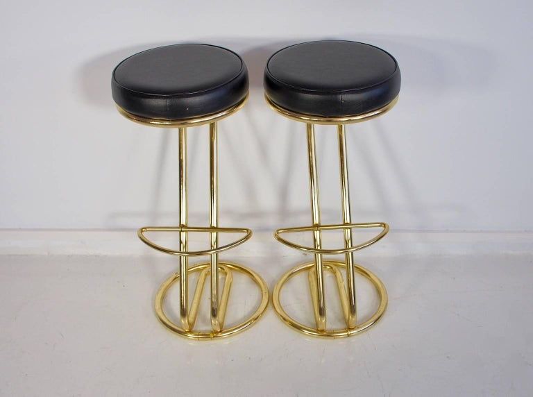 A pair of 1970 bar stools.
