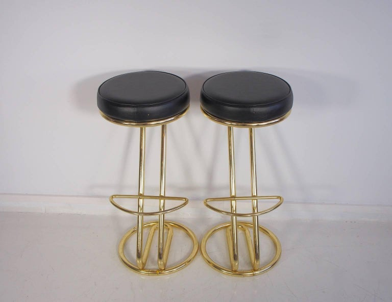 Mid-Century Modern Pair of 1970 Bar Stools For Sale