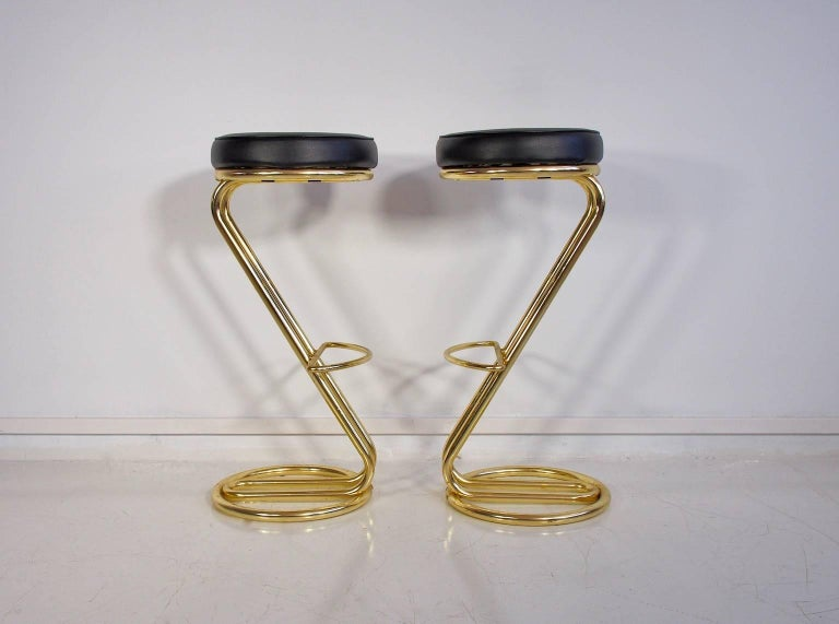 Swedish Pair of 1970 Bar Stools For Sale