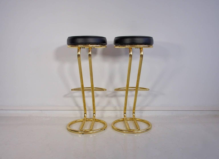 Pair of 1970 Bar Stools In Good Condition For Sale In Madrid, ES