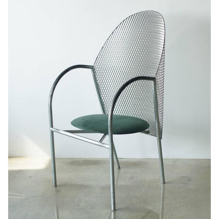 HAL chair by Shiro Kuramata for Cassina Japan, IXC. This chair's back is used expand metal as same as famous How High The Moon. Made in Japan.