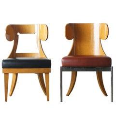 Kanji Ueki Prototype Chairs Dino and Dina Postmodern Classic Style