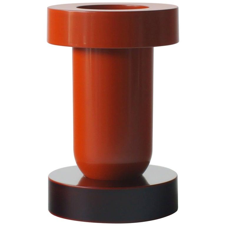 Mirto Flower Vase Ettore Sottsass Japanese Urushi Lacquer Model For Sale