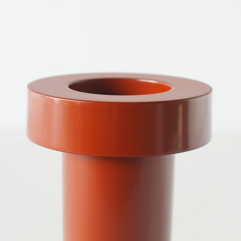 Contemporary Mirto Flower Vase Ettore Sottsass Japanese Urushi Lacquer Model For Sale